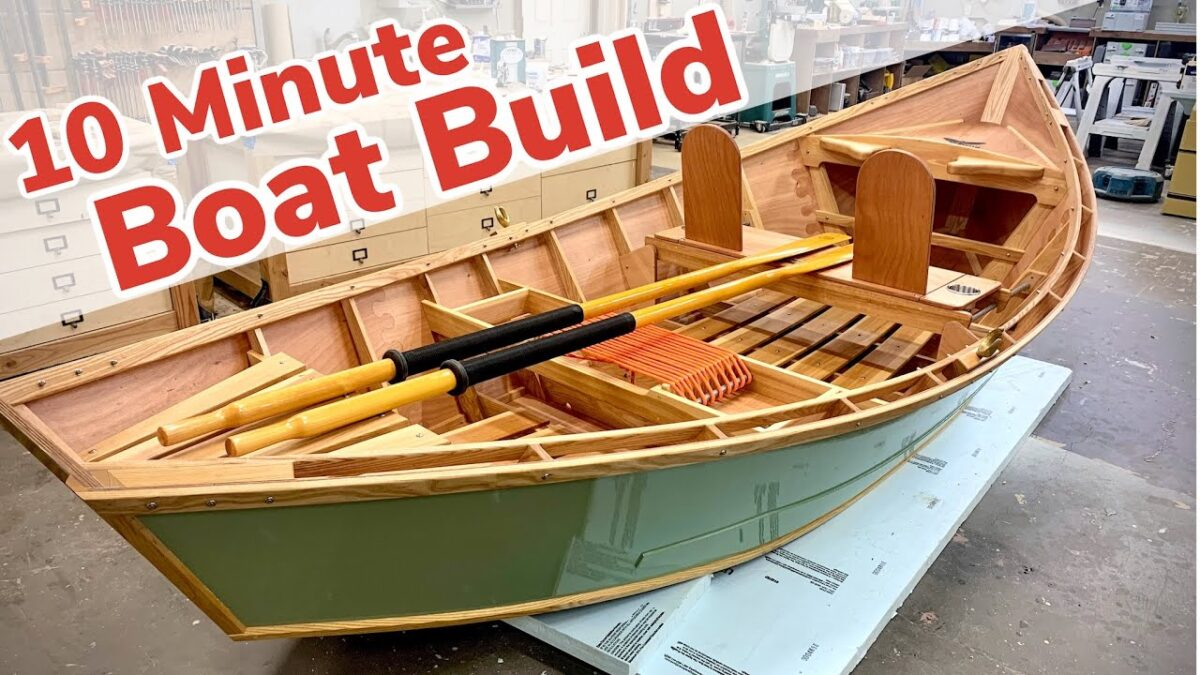 10 Minute Boat Build || Boat Build Start to Finish