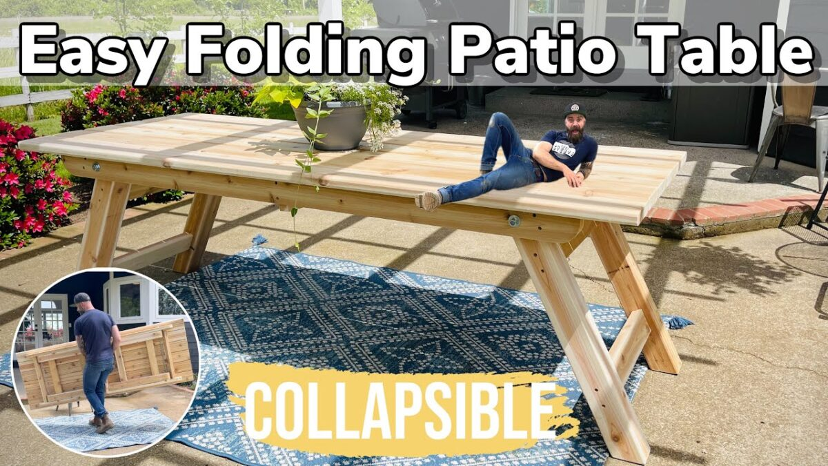 Easy Wooden Patio Table || DIY Outside Dining Table