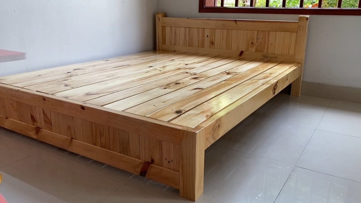 Great Woodworking Projects for Your Home// How To Build a Best Quality Wooden Double Bed Frame