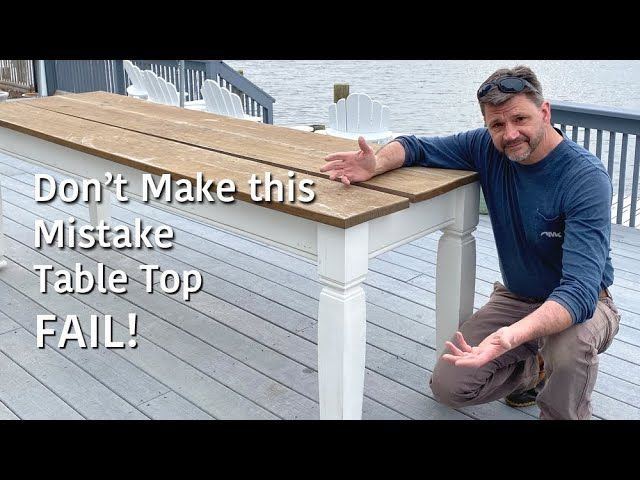 Table Top Fail! - Don't Make the same Mistake I Made