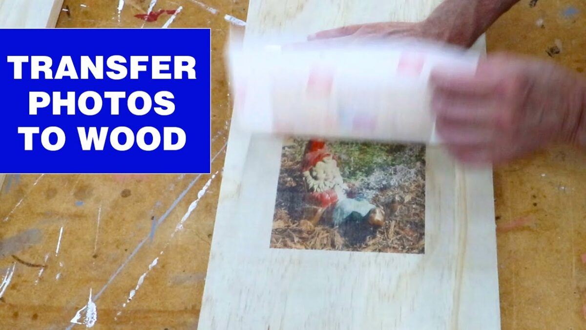 How to transfer inkjet photos to wood #shorts