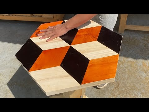 Woodworking Skills // How To Build A Coffee Table Modern 3D Model