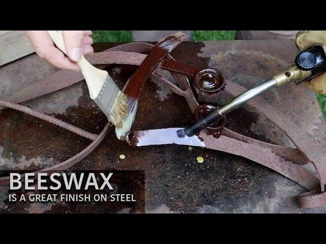 Beeswax Finish on Steel - Magnetic Sculpture Base