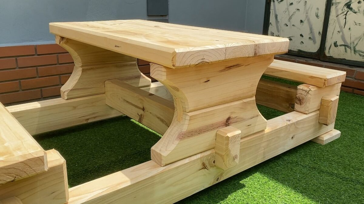 WOODWORKING - Design Ideas for Your Outdoor Living Space // Easy Outdoor Garden & Patio Furniture
