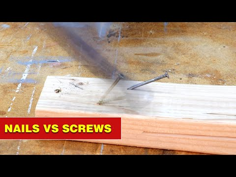 Nails vs Screws. Which is better? #shorts