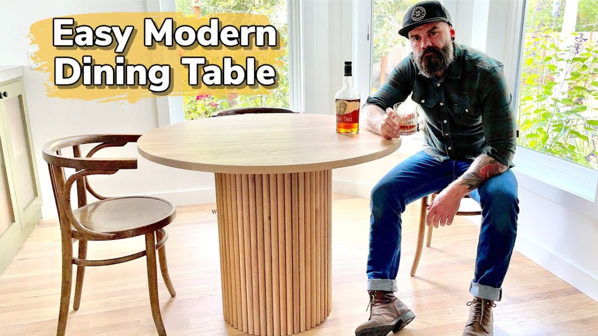 Crazy Easy Modern Dining Table || insanely easy table build