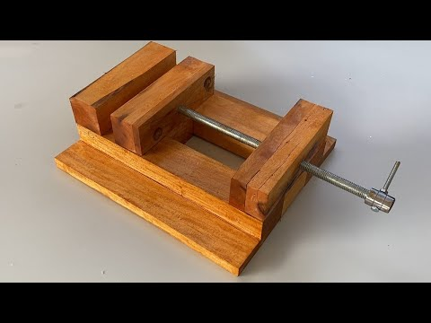 Homemade Woodworking Tool Idea || Making A Drill Press Vice || How To Make Wooden Vice