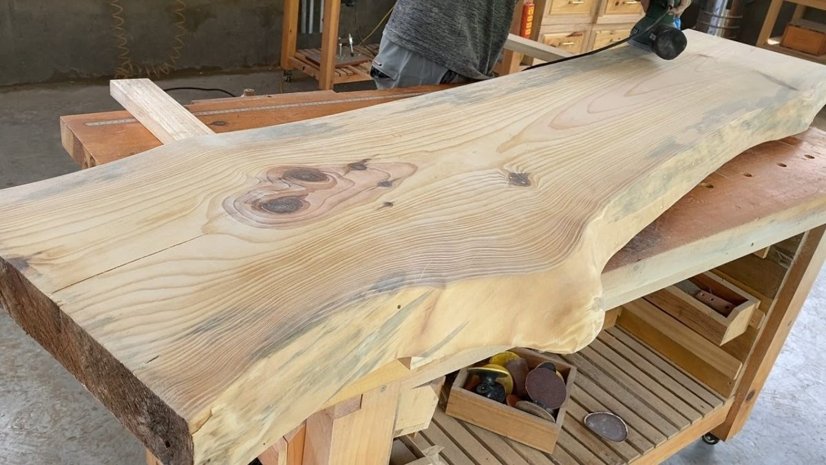 How To Make Extremely Giant Monolithic Table // Woodworking Ideas Extremely Special
