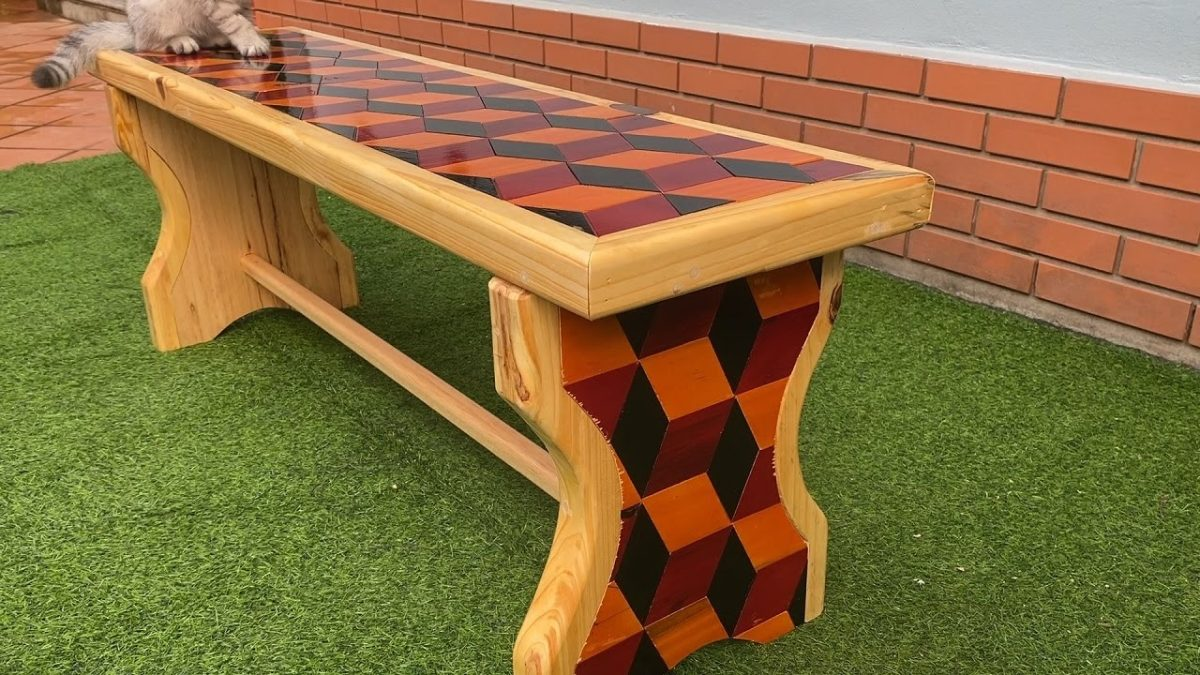 New Design From Wood Will Surprise You // Build The Most Beautiful Bench In The World